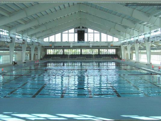 Inside view of NISD natatorium